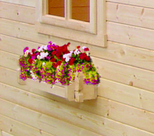 Window boxes, with interlocking logs