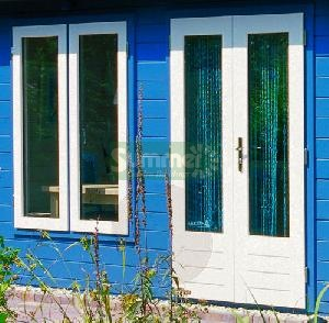 LOG CABINS - Additional large pane doors and windows - double glazed