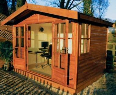 Malvern Arley Apex Summerhouse - Double Glazed, Georgian