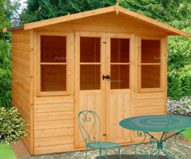 Shire Haddon Summerhouse - Apex Roof, Double Door