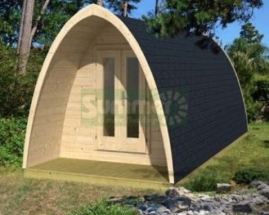 Log Camping Pod 982 - 2 Rooms, Rear Window
