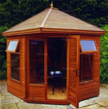 Malvern Martley Corner Summerhouse - Large Panes