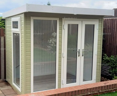Pent Garden Office 401 - Painted, Double Glazed, Insulated