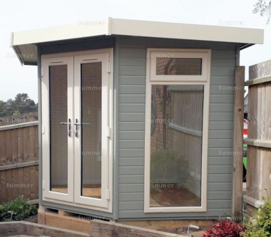 Corner Summerhouse 412 - Painted, Double Glazed PVCu
