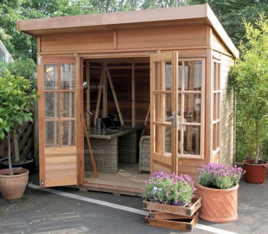 Alton Pentwick Pent Summerhouse - Toughened Glass