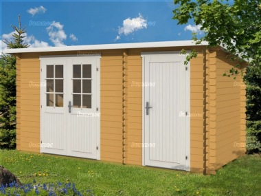 Two Room Pent Log Cabin 346 - Shed and Summerhouse