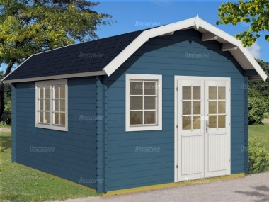 Apex Barn Style 40mm Log Cabin 353 - Plain or Georgian