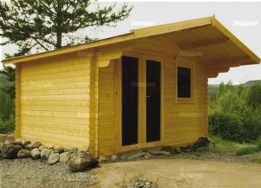 Apex Double Door 40mm Log Cabin 454 Large Panes