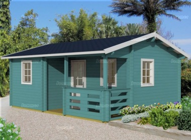 Three Room Side Door Apex Log Cabin 488 - Double Glazed