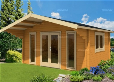 Apex Double Door Log Cabin 489 - Bespoke, Double Glazed