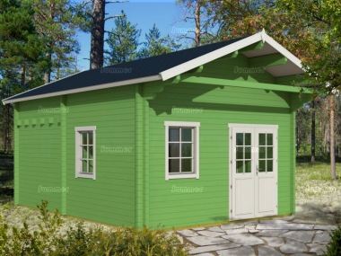 Three Room Apex Log Cabin 504 - Double Glazed, Loft Area