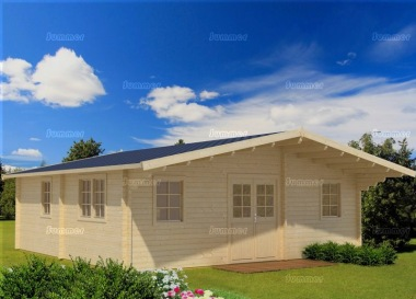 Five Room Apex Log Cabin 812 - Double Door, Double Glazed