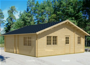 Five Room Apex Log Cabin 813 - Double Glazed