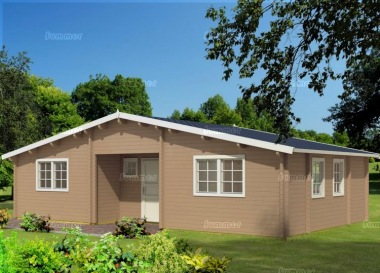 Five Room Apex Log Cabin 816 - Integral Porch