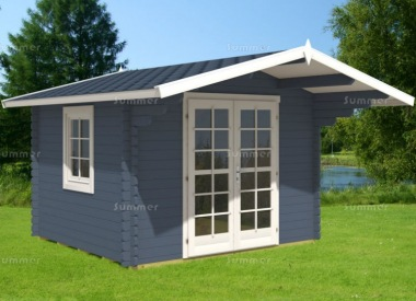 Double Door 40mm Apex Log Cabin 851 - Plain or Georgian