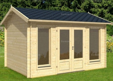 Apex 45mm Log Cabin 012 - Side Door, Double Glazed