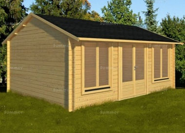 Apex 45mm Log Cabin 024 - Side Door, Double Glazed