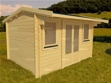 Side Door Apex Log Cabin 565 - Double Glazed