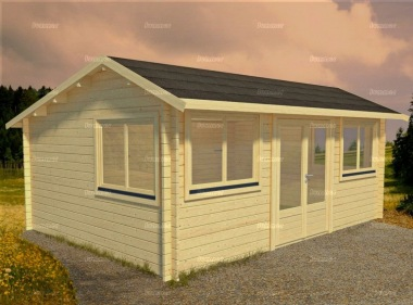 Side Door Apex Log Cabin 567 - Double Glazed