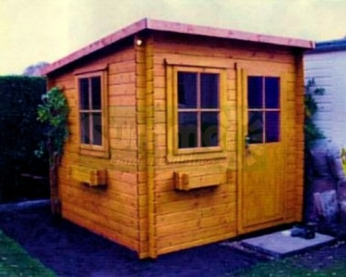 Shire Dean Log Cabin - Pent Roof