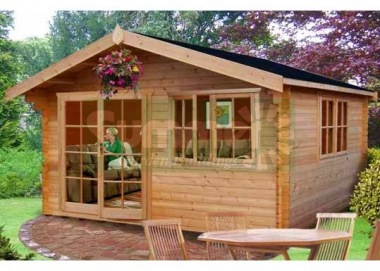 Shire Abbeyford Log Cabin - Double Door