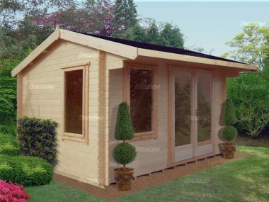 Shire Marlborough Log Cabin - Modern Large Panes