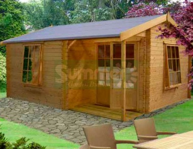 Shire Ringwood Log Cabin - Integral Porch