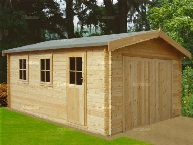 Shire Bradenham Log Cabin Garage With Hinged Doors
