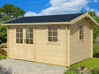 Side Door Apex 45mm Log Cabin 280 - Double Glazed
