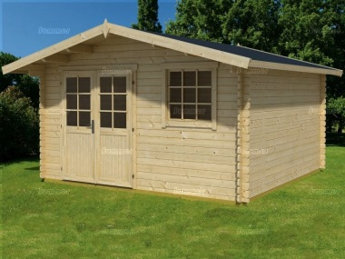 Apex Log Cabin 49 - Double Door