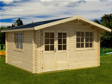 Apex Log Cabin 536 - Double Door