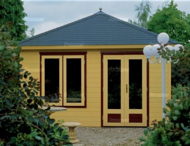 Hipped Roof Double Door Log Cabin 307 - Bespoke
