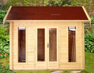 Side Door Apex Log Cabin 667 - Double Glazed