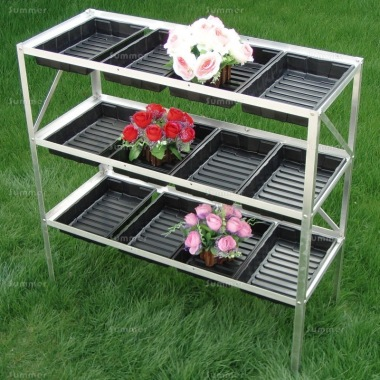 3 Tier Galvanized Steel Seed Tray Frame 395 - 12 Seed Trays
