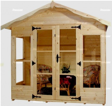 Apex Summerhouse 180 - Low Level Glazing, Double Door