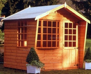 Cabin Style Apex Summerhouse 064 - Bay Window
