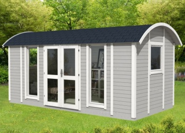 Curved Roof Summerhouse 980 - Double Glazed