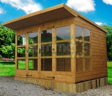 Pent Summerhouse 266 - Shiplap, Double Door