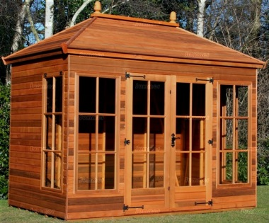 Hipped Summerhouse 914 - Low Level Glazing, Double Door