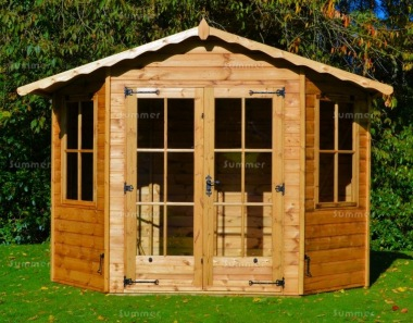 Bay Fronted Apex Summerhouse 93 - Six Sided